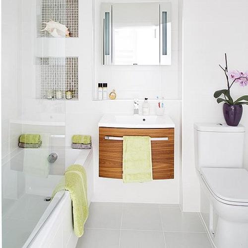 Một số giải pháp tạo ấn tượng cho một phòng tắm nhỏ