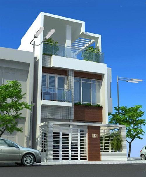 Mẫu thiết kế nhà phố với Gara độc đáo