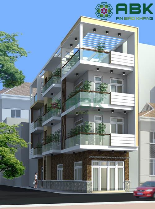 Mê say với mẫu thiết kế nhà phố 4 tầng hiện đại và sang trọng M03