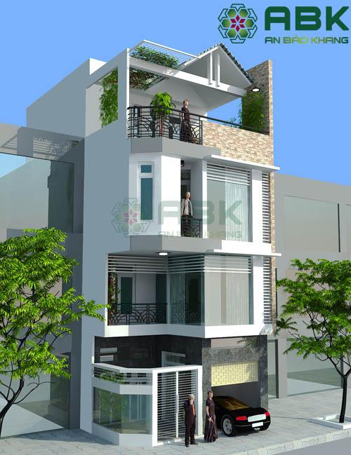 Mê mẫn với mẫu thiết kế nhà phố 4 tầng siêu hiện đại M08