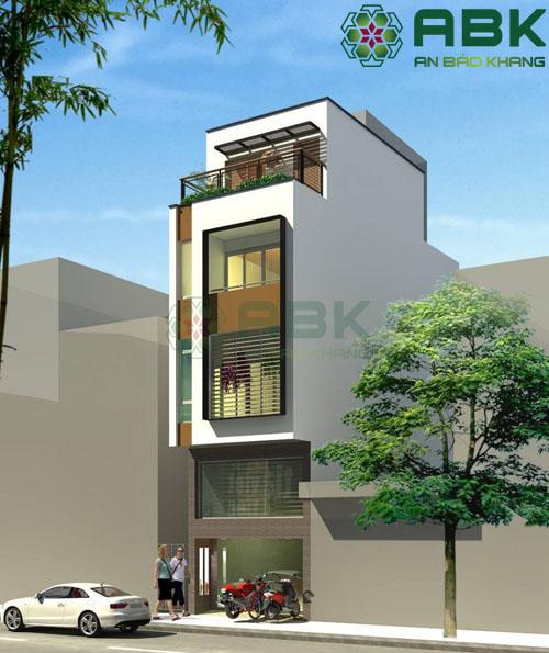 Mẫu thiết kế nhà phố 4 tầng rưỡi ấn tượng M10