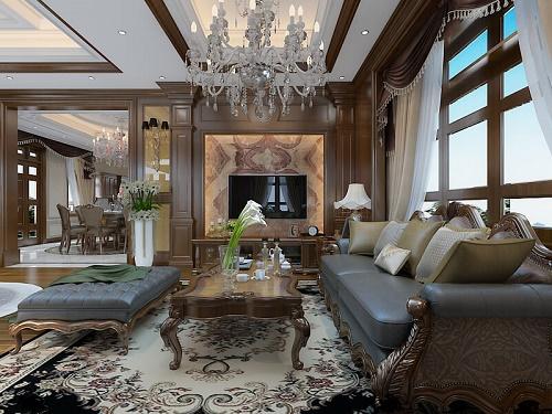 Thiết kế nội thất của biệt thự tân cổ điển của anh Nam