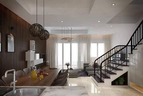 Thiết kế nội thất đẹp sang trọng cho căn hộ liền kề