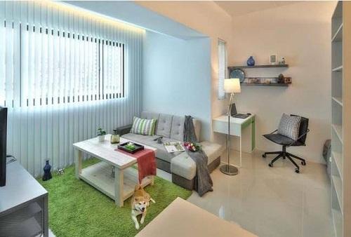 Thiết kế mẫu chung cư nhỏ có một phòng ngủ
