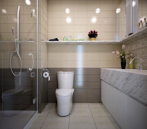 Thiết kế không gian nhà tắm khách sạn vô cùng sang trọng