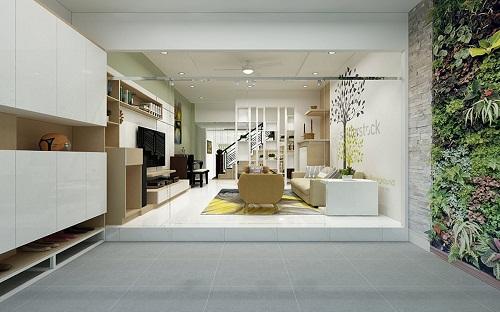 Ngắm nhìn nội thất với gam màu tươi sáng đầy mới mẻ từ căn nhà phố của anh Hoàng
