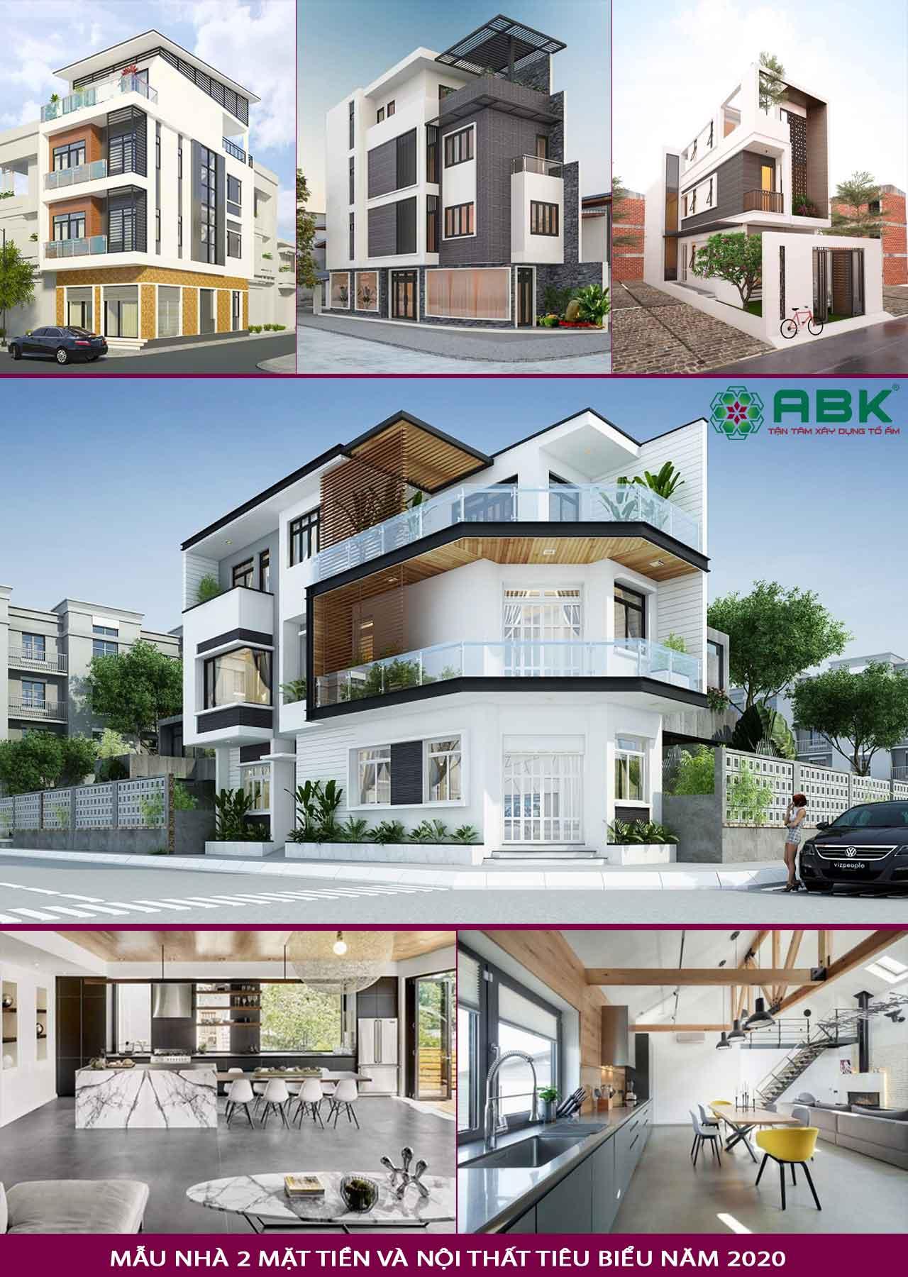 Chi phí xây dựng trọn gói nhà phố 2 mặt tiền
