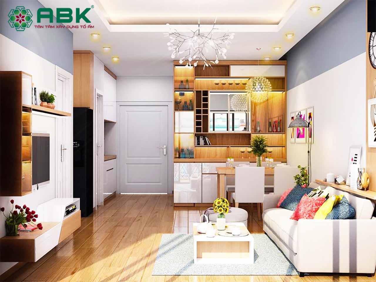 Thiết kế nội thất chung cư theo phong cách tự nhiên